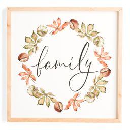 23x23 Family Wreath Framed Art   Home   Marshalls   Marshalls