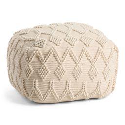 20x14 Textured Cotton Pouf   The Global Decor Shop   Marshalls   Marshalls