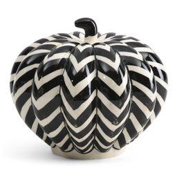 8in Ceramic Chevron Pumpkin   Decor   Marshalls   Marshalls
