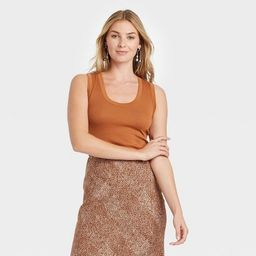 Women's Slim Fit Tank Top - A New Day™ Brown XL   Target