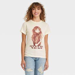 Women's Stevie Nicks Short Sleeve Graphic T-Shirt - Tan | Target