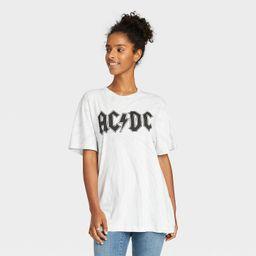 Women's AC/DC Oversized Lounge T-Shirt - White | Target