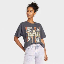 Women's 'The Beatles' Oversized Lounge T-Shirt - Vintage Black | Target