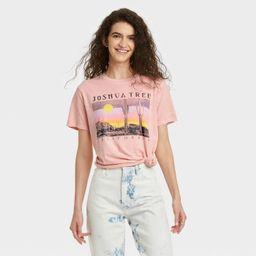 Women's Joshua Tree Photo Short Sleeve Graphic T-Shirt - Blush | Target