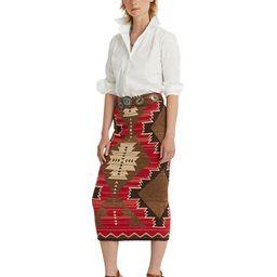 Lauren Ralph Lauren Cotton Blend Southwestern Skirt  & Reviews - Skirts - Women - Macy's | Macys (US)