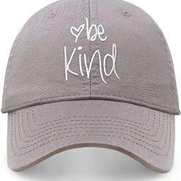 Be Kind Trendy Womens Baseball Cap Unisex Fashion Cotton Polo Style Fun Inspirational Saying Seas... | Amazon (US)