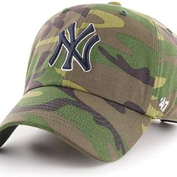 '47 Brand New York Yankees Unwashed Camo Clean Up Slouch Fit Dad Hat | Amazon (US)
