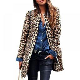 Winter Clearance EleaEleanor jacket women's winter autumn coat warm sexy leopard long-sleeved loo...   Walmart (US)