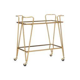 Linon Gold Mid-Century Bar Cart - Walmart.com | Walmart (US)