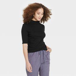 Women's Elbow Sleeve Mock Turtleneck T- Shirt - A New Day™   Target