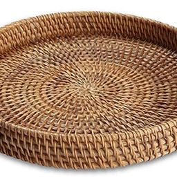 YIWEN Handmade Round Rattan Serving Tray with Handles Woven Baskets, Basket for Fruit Bread Parti...   Amazon (US)