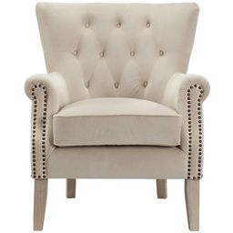 Better Homes & Gardens Accent Chair, Living Room & Home Office, Beige - Walmart.com   Walmart (US)