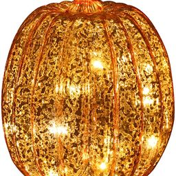 Romingo Mercury Glass Pumpkin Light with Timer for Halloween Pumpkin Decorations Fall and Thanksg...   Amazon (US)