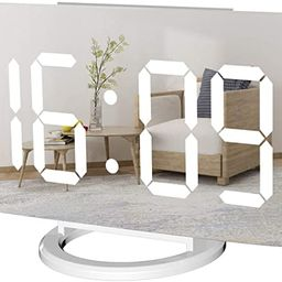 WulaWindy Digital Alarm Clock, Large Mirrored LED Display, with USB Charger, Snooze Function Dim ...   Amazon (US)
