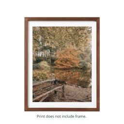 Painting Inspired Fall Reflections in Central Park Print | Etsy (US)