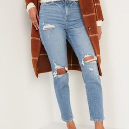 Higher High-Waisted O.G. Straight Ripped Jeans for Women   Old Navy (US)
