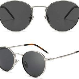SUNGAIT Metal Round Sunglasses for Men and Women Classic Vintage Polarized Sun Glasses SGT059 | Amazon (US)