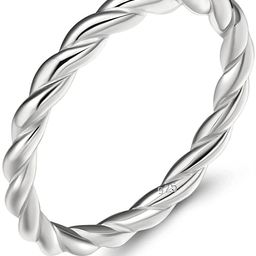 EAMTI 925 Sterling Silver Celtic Knot Ring Simple Criss Cross Infinity Wedding Band for Women Siz... | Amazon (US)