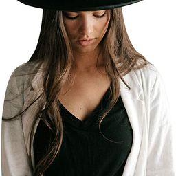 Gigi Pip Monroe Rancher Western Felt Hat for Women, 100% Wool | Amazon (US)