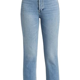 Comfort Stretch High-Rise Stovepipe Jeans | Saks Fifth Avenue