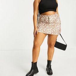 Daisy Street Plus coordinating mini skirt in leopard print | ASOS (Global)