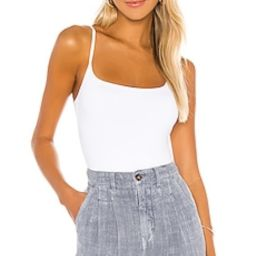 Free People Strappy Basique Bodysuit in White from Revolve.com   Revolve Clothing (Global)