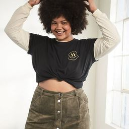 Plus Size Buttoned Corduroy Skirt | Forever 21 (US)