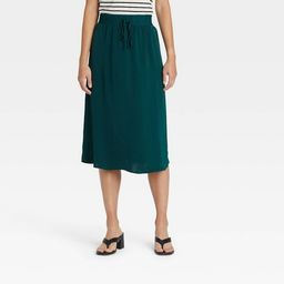 Women's High-Rise Midi Slip Skirt - A New Day™ | Target