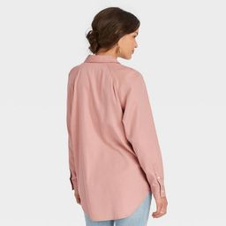 Women's Raglan Long Sleeve Button-Down Shirt - Universal Thread™ | Target