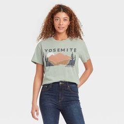 Women's Yosemite Short Sleeve Graphic T-Shirt - Green | Target
