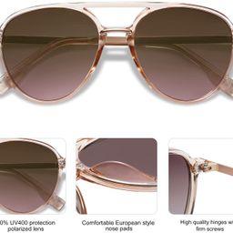 SOJOS Oversized Polarized Sunglasses for Women Men Aviator Big Large Ladies Shades SJ2078   Amazon (US)