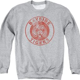 Saved By The Bell Men's Tigers Sweatshirt Athletic Heather | Amazon (US)