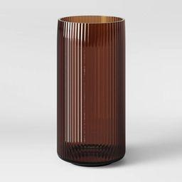 "12"" x 5.75"" Ribbed Glass Vase Amber - Threshold™ | Target"