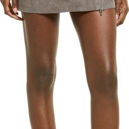 Zip Suede Miniskirt | Nordstrom | Nordstrom