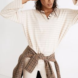 MWL Breeze Henley Shirttail Tee in Stripe | Madewell