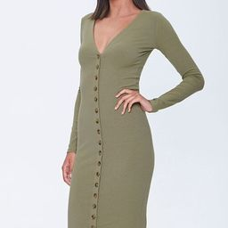 Button-Front Midi Dress | Forever 21 (US)