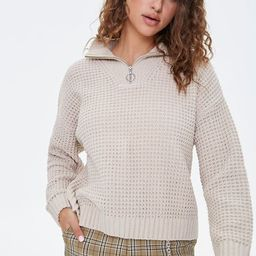 Open-Knit Half-Zip Sweater | Forever 21 (US)