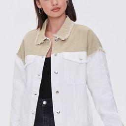 Frayed Colorblock Denim Jacket | Forever 21 (US)