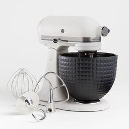 KitchenAid Artisan Series 5-Quart Tilt-Head Limited-Edition Light & Shadow Stand Mixer with Black... | Crate & Barrel