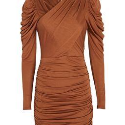 Jasmine Ruched Jersey Mini Dress   INTERMIX