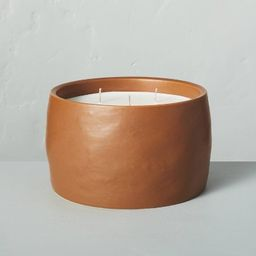 35oz Harvest Spice 5-Wick Speckled Ceramic Fall Candle - Hearth & Hand™ with Magnolia   Target