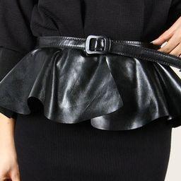 Skirt Flounced Wide Corset Belt   SHEIN