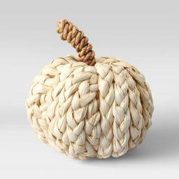 "5"" x 4.7"" Woven Corn Husk Pumpkin Figurine Cream - Threshold™ | Target"
