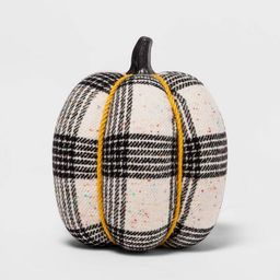 """8.5"""" Large Harvest Fabric Wrapped Pumpkin with Tweed/Plaid Speckle - Hyde & EEK! Boutique™ 