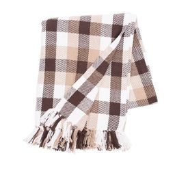 """C&F Home Dunmore Plaid Cocoa Woven 50"""" x 60"""" Throw Blanket 