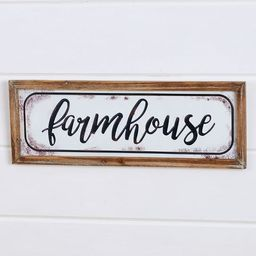 """Lakeside Enamel Look 22"""" Wall Hanging Plaque with Farmhouse Sentiment Text 
