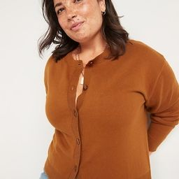 Crew-Neck Cardigan Sweater for Women | Old Navy (US)