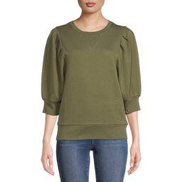 Time and Tru Women's Puff Sleeve Sweatshirt | Walmart (US)