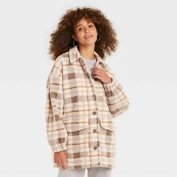 Women's Plaid Shirt Shacket - Universal Thread™ | Target