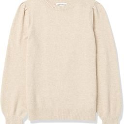 Amazon Essentials Women's Soft Touch Pleated Shoulder Crewneck Sweater   Amazon (US)